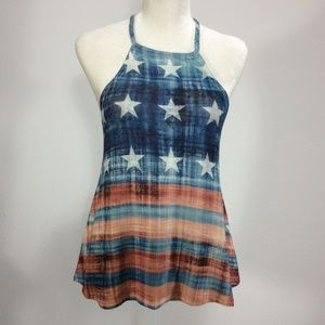 Gaze Sexy Swing Tank Red, White and Blue L